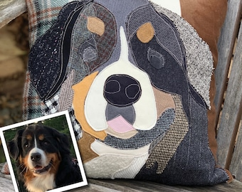 Custom Dog Pillow, Personalized Dog Pillow Cover, Pet Memorial, Pet Loss Gift, Dog Lovers Gift, Dog Mom Gift, Pet Sympathy Gift