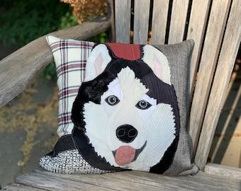 Husky Dog Pillow, Pet Pillow, Dog Decor, Dog Lover Gift, Cushion Cover