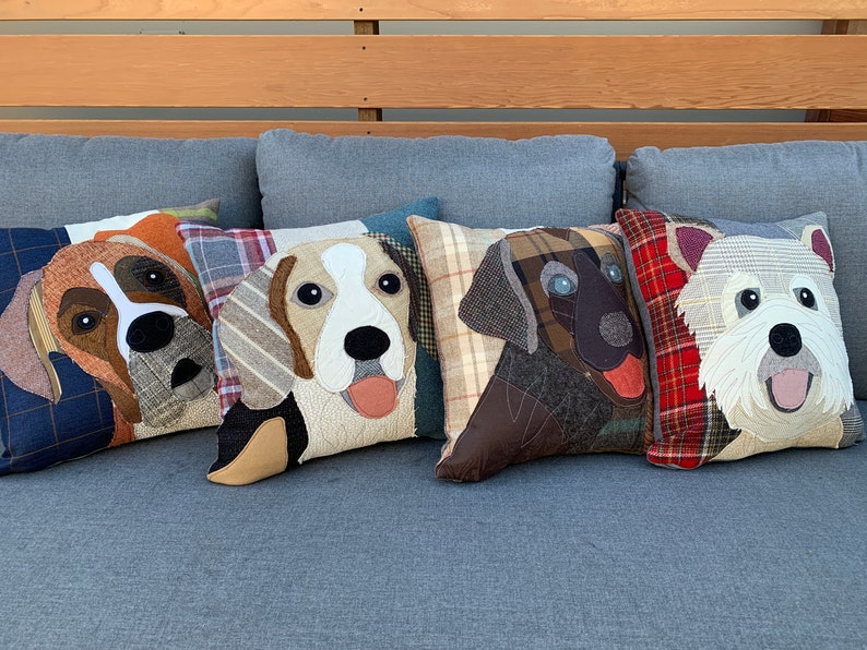 Great Dane Dog Pillow Dog Decor Cushion Cover Pet Pillow Dog Lover Gift Brown