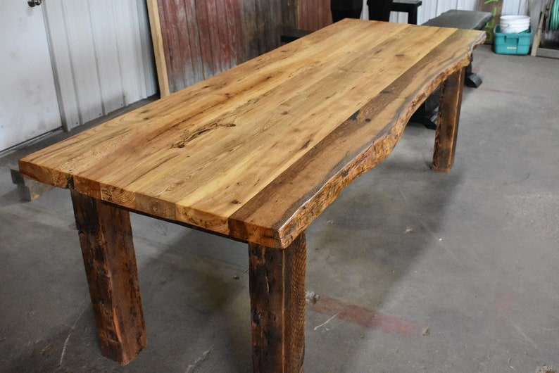 Diy Kit Barnwood Dining Table Do It Yourself Reclaimed Wood Etsy
