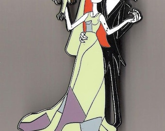 disney pin nightmare before christmas sally jack skellington wedding dress fantasy jumbo le 100 limited edition 100