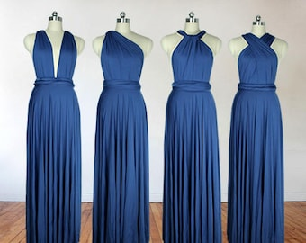 1286e72a438 Navy blue bridesmaid dress long bridesmaid dress bridesmaids dresses long dress  infinity dress convertible dress maternity gown party dress