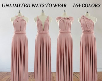 4a3e6f1b295 blush pink bridesmaid dress long bridesmaid dress bridesmaids dresses long  dress infinity dress convertible dress maternity gown party dress