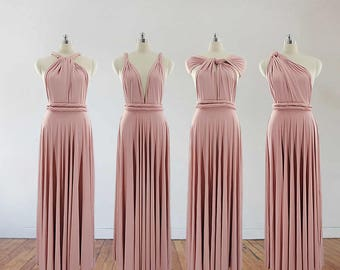 bacffe53af0 blush pink bridesmaid dress long bridesmaid dress bridesmaids dresses long dress  infinity dress convertible dress maternity gown party dress