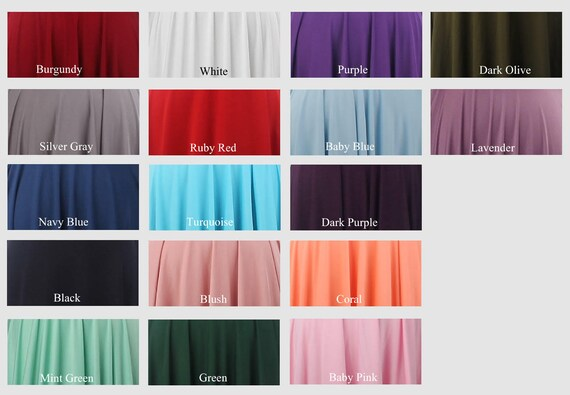 designer fashion special sales cheap for sale Color swatches for infinity dress