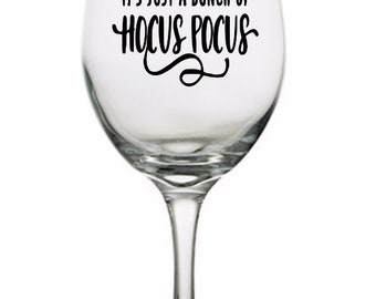 Bunch of Hocus Pocus Witch Horror Pint Wine Glass Tumbler Alcohol Drink Cup Barware Halloween Scary