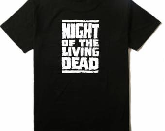 Night of the Living Dead Zombie T Shirt Clothes Many Sizes Colors Custom Horror Halloween Merch Massacre