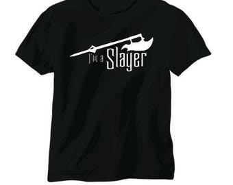 I'm a Slayer Buffy Vampire Slayer Unisex T Shirt Many Sizes Colors Custom Horror Halloween Merch Massacre