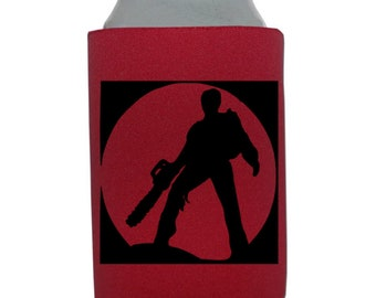 Evil Dead Army of Darkness Ash Williams Versus Halloween Horror Can Cooler Can Sleeve Bottle Holder Merch Massacre