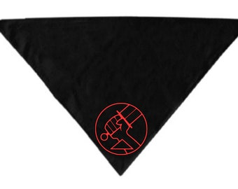 BPRD Hellboy Dark Horse Comic Book Pet Bandana Scarf Cat Dog Clothes Horror Halloween Accessories Merch Massacre
