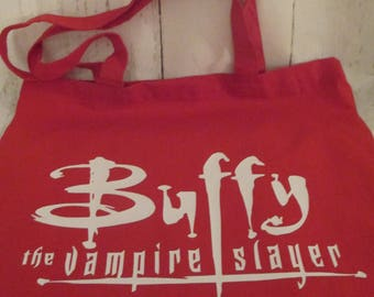 Buffy the Vampire Slayer Horror Canvas Tote Bag Market Pouch Grocery Reusable Halloween Merch Massacre Black Friday Christmas
