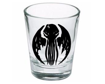 Cthulhu HP Lovecraft Shot Glass Horror Halloween Drinking Bar Gift for Him Her Merch Massacre