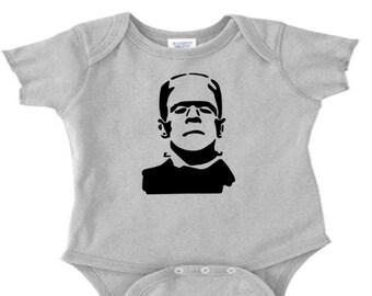 Frankenstein Monster Infant Baby Kids Children Shirt Bodysuit Many Sizes Colors Custom Horror Halloween Merch Massacre