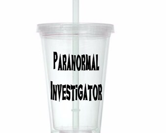 Paranormal Investigator Ghost Hunting Tumbler Cup Gift Home Decor for Her Him Any Color Personalized Custom Merch Massacre