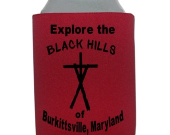 Blair Witch Project Black Hills Burkittsville Maryland Indy Horror Halloween Horror Can Cooler Sleeve Bottle Holder Merch Massacre
