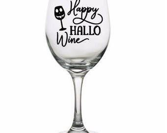 Happy Hallowine Drinking Horror Pint Wine Glass Tumbler Alcohol Drink Cup Barware Halloween Scary