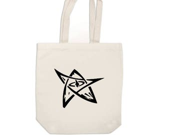 Elder Sign HP Lovecraft Cthulhu Horror Canvas Tote Bag Market Pouch Grocery Reusable Merch Massacre Black Friday Christmas