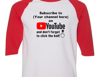 Social Media YouTube Subscribe Instagram Twitter Snapchat Funny Comedy Baseball Raglan 3/4 Sleeve T Shirt Unisex Clothes Merch Massacre