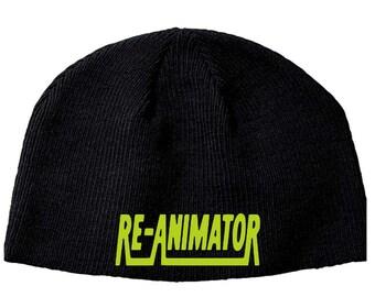 Re-Animator Herbert West Beanie Knitted Hat Cap Winter Clothes Horror Merch Massacre Christmas Black Friday