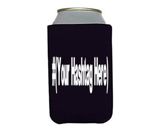 Social Media Hashtag # @ Follow Instagram Twitter Snapchat YouTube Subscribe Custom Funny Can Cooler Can Sleeve Bottle Holder Merch Massacre