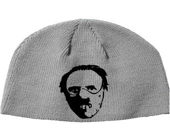 Hannibal Lecter Silence of the Lambs Red Dragon Cannibal Beanie Knitted Hat Cap Winter Clothes Horror Merch Massacre Christmas Black Friday