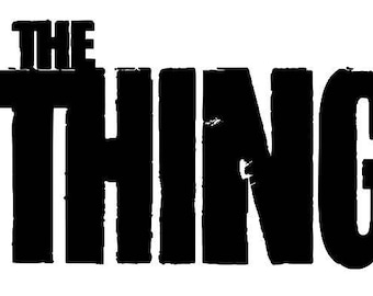 The Thing Horror Vinyl Car Decal Bumper Window Sticker Halloween Any Color Multiple Sizes Custom