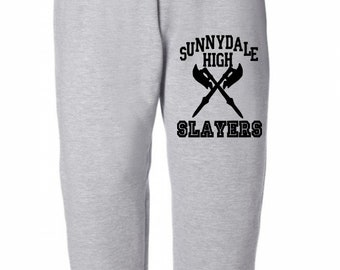 Sunnydale High Slayers Buffy Vampire Slayer Horror Sweatpants Lounge Pajama Comfortable Comfy Mens Womens Clothes Merch Massacre