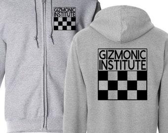 MST3K Mystery Science Theater 3000 Sci Fi Gizmonic Institute Hoodie Zip Up Hooded Sweatshirt Many Sizes Horror Halloween Merch Massacre