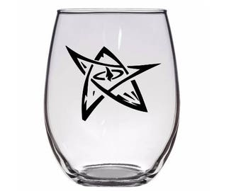 Elder Sign HP Lovecraft Cthulhu Drinking Horror Pint Wine Glass Tumbler Alcohol Drink Cup Barware Halloween Scary Merch Massacre