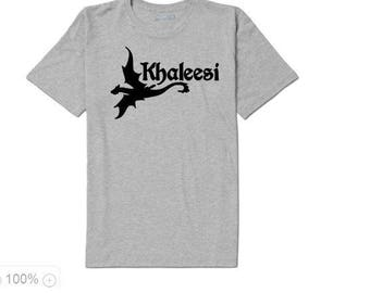 Khaleesi Dragon Game of Thrones Daenerys Targaryen Unisex T Shirt Many Sizes Colors Custom Horror Halloween Merch Massacre