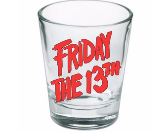 Friday the 13th Jason Vorhees Shot Glass Horror Halloween Drinking Bar Gift for Him Her Merch Massacre
