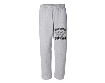 Human Centipede Survivor Dark Humor Funny LOL Extreme Horror Sweatpants Lounge Pajama Comfortable Comfy Mens Womens Clothes Merch Massacre