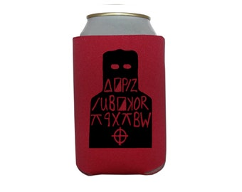 Zodiac Killer Cipher Code Serial Killer Murderer True Crime Halloween Horror Can Cooler Can Sleeve Bottle Holder Merch Massacre