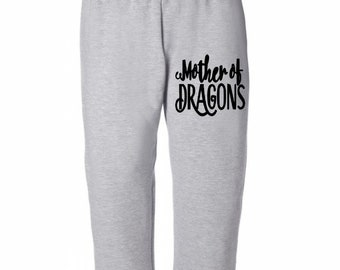Khaleesi Mother of Dragons Game of Thrones Horror Sweatpants Lounge Pajama Comfortable Comfy Mens Womens Clothes Merch Massacre Halloween