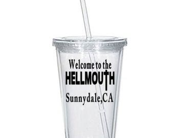 Buffy the Vampire Slayer Welcome to Hellmouth Sunnydale Horror Tumbler Cup Gift Home Decor Gift for Her Him Any Color Personalized Custom