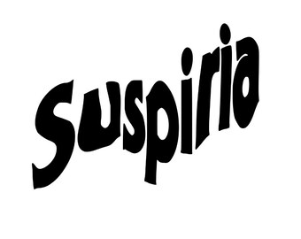 Suspiria 80's Italian Horror Horror Vinyl Car Decal Bumper Window Sticker Any Color Multiple Sizes