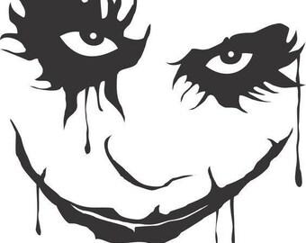 Joker The Dark Knight Batman Horror Vinyl Car Decal Bumper Window Sticker Any Color Multiple Sizes