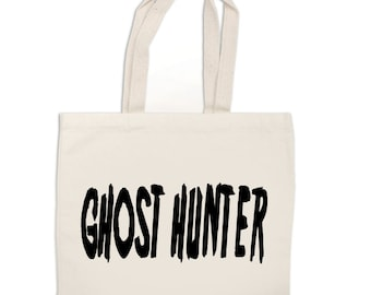 Ghost Hunter Paranormal Ghost Adventures Canvas Tote Bag Market Pouch Grocery Reusable Merch Massacre Black Friday Christmas