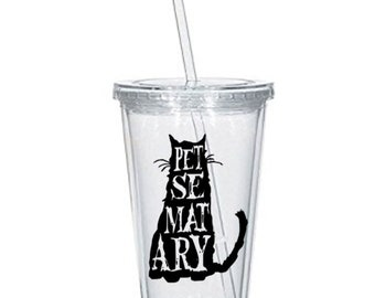 Pet Sematary Sometimes Dead is Better Horror Tumbler Cup Gift Home Decor Gift for Her Him Any Color Personalized Custom Merch Massacre