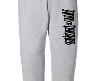 Army of Darkness Evil Dead Halloween Horror Sweatpants Lounge Pajama Comfortable Comfy Mens Womens Clothes Merch Massacre