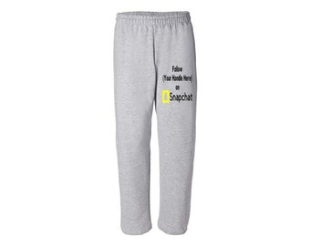 Social Media Snapchat Hashtag # @ Follow Instagram Twitter Custom Sweatpants Lounge Pajama Comfort Comfy Mens Womens Clothes Merch Massacre