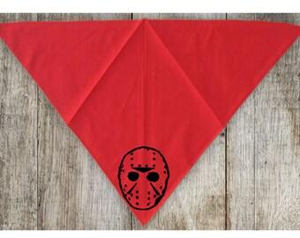 Jason Vorhees Mask Friday the 13th Pet Bandana Scarf Cat Dog Clothes Horror Halloween Accessories Merch Massacre