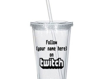 Twitch Gamer Gaming Streamer Streaming Personalized Tumbler Cup Gift Home Decor for Her Him Any Color Personalized Custom Merch Massacre