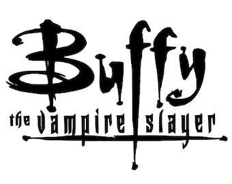 Buffy The Vampire Slayer Logo Horror Vinyl Car Decal Bumper Window Sticker Any Color Multiple Sizes