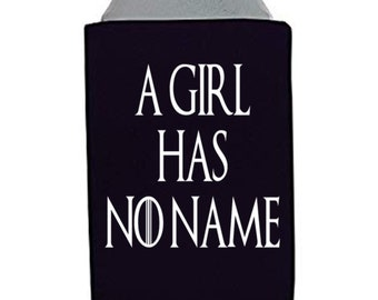 Game of Thrones GOT Arya Stark A Girl Has No Name Face Winter is Coming Can Cooler Sleeve Bottle Holder Merch Massacre