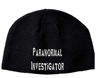 Paranormal Investigator Ghost Hunting Beanie Knitted Hat Cap Winter Clothes Horror Merch Massacre Christmas Black Friday