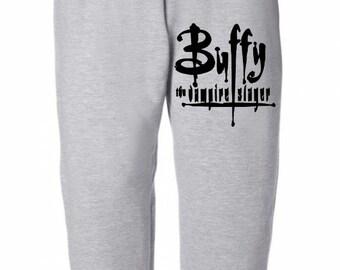 Buffy the Vampire Slayer Logo Horror Sweatpants Lounge Pajama Comfortable Comfy Mens Womens Clothes Merch Massacre