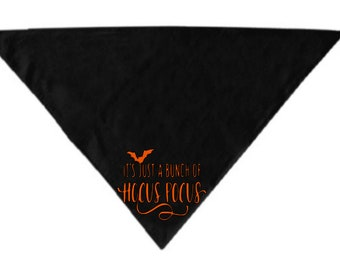 Bunch of Hocus Pocus Pet Bandana Scarf Cat Dog Clothes Horror Halloween Accessories Merch Massacre