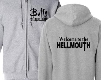 Buffy the Vampire Slayer Grr Argh Firefly Spike Supernatural Hoodie Zip Up Hooded Sweatshirt Many Sizes Horror Halloween Merch Massacre