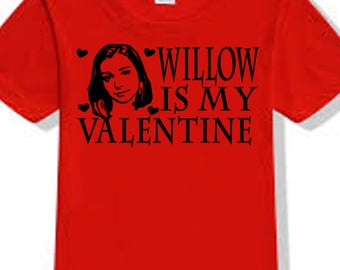 Buffy the Vampire Slayer Willow Sunnydale Valentine's Day True Love T Shirt Clothes Many Sizes Colors Custom Horror Halloween Merch Massacre